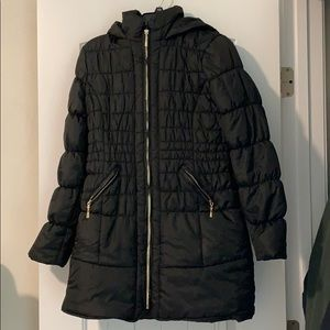 Glamsia hooded puffer coat size small